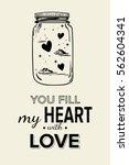 romantic illustration. sketched ... | Shutterstock .eps vector #562604341
