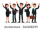 people dressed in a business... | Shutterstock .eps vector #562608295