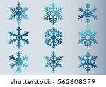 snowflake vector icon... | Shutterstock .eps vector #562608379