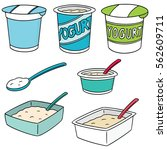 vector set of yogurt | Shutterstock .eps vector #562609711