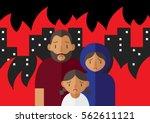 vector illustration of family... | Shutterstock .eps vector #562611121