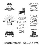 vector video games labels set.... | Shutterstock .eps vector #562615495