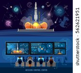 mission control center  start... | Shutterstock .eps vector #562621951