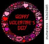 happy valentine's day  | Shutterstock . vector #562623685