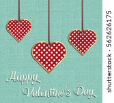 valentines day card  geometric... | Shutterstock .eps vector #562626175
