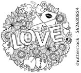 vector coloring book for adult. ... | Shutterstock .eps vector #562630834