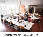 group of young people employee... | Shutterstock . vector #562631275