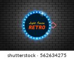 light frame retro shining retro ... | Shutterstock .eps vector #562634275