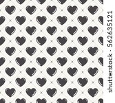 hearts pattern. valentines day... | Shutterstock .eps vector #562635121
