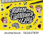 happy valentine's day. ... | Shutterstock .eps vector #562637839