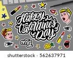 happy valentine's day. ... | Shutterstock .eps vector #562637971