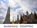 view of famous religion temple... | Shutterstock . vector #562639261