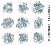 isometric linear abstract...   Shutterstock .eps vector #562648894
