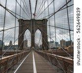 famous brooklyn bridge in new... | Shutterstock . vector #562649839