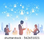 business people group... | Shutterstock .eps vector #562651021