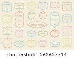 big vector set of vintage... | Shutterstock .eps vector #562657714