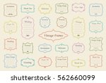 big vector set of vintage... | Shutterstock .eps vector #562660099