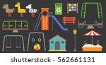 big set of playground equipment ... | Shutterstock .eps vector #562661131
