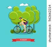illustration of cyclist riding... | Shutterstock . vector #562662214