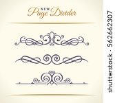 new calligraphic page dividers...   Shutterstock .eps vector #562662307