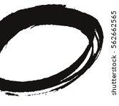grunge vector frame oval shape. ... | Shutterstock .eps vector #562662565