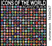 icons of the world against... | Shutterstock .eps vector #56266267