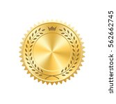 seal award gold icon. blank... | Shutterstock .eps vector #562662745