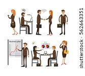 set of office people characters ... | Shutterstock . vector #562663351