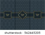 vintage pattern on black... | Shutterstock .eps vector #562665205