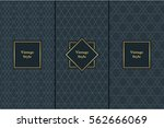 vintage pattern on black... | Shutterstock .eps vector #562666069