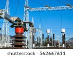 electrical substation... | Shutterstock . vector #562667611