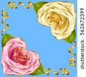 corner vignette from the rose... | Shutterstock .eps vector #562672399
