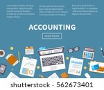 accounting concept. financial... | Shutterstock .eps vector #562673401