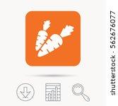 carrot icon. fresh natural... | Shutterstock .eps vector #562676077