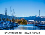 lots of yachts   boats in... | Shutterstock . vector #562678435