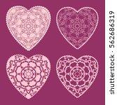 beautiful floral ornate heart.... | Shutterstock .eps vector #562686319