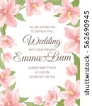 wedding marriage invitation... | Shutterstock .eps vector #562690945