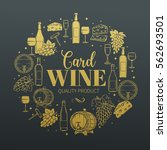 decorative vintage wine icons.... | Shutterstock .eps vector #562693501