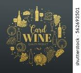 decorative vintage wine icons.... | Shutterstock .eps vector #562693501