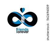 infinite friendship  friends... | Shutterstock .eps vector #562696009