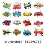 collection vector comic sound... | Shutterstock .eps vector #562696789