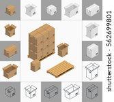 vector illustration. set of... | Shutterstock .eps vector #562699801