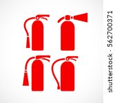 fire extinguisher vector icon... | Shutterstock .eps vector #562700371