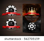 casino card design   vintage... | Shutterstock .eps vector #562705159