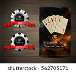 casino card design   vintage... | Shutterstock .eps vector #562705171