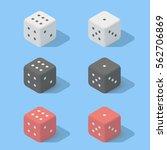 white  black  red dice....