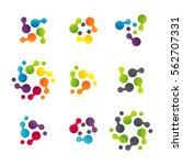 technology logo vector set.... | Shutterstock .eps vector #562707331