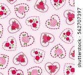 roses in heart frames valentine ...   Shutterstock .eps vector #562707397