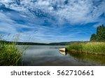Small Boat At The Lipno Lake