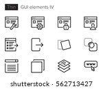 gui elements for applications... | Shutterstock .eps vector #562713427